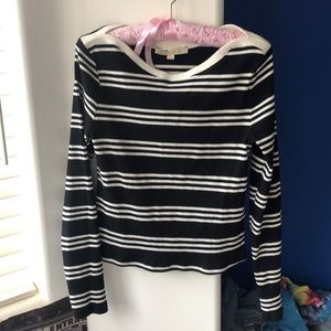anthropologie striped long sleeve tee size large